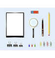 office supplies on table vector image