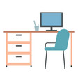 organization furniture and equipment vector image vector image
