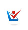 people checklist option logo vector image