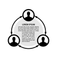 People network vector image vector image