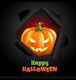 retro halloween poster vector image vector image