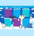 school timetable polar animals vector image vector image