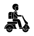 scooter travel icon sign o vector image