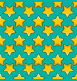 seamless pattern with color cartoon stars vector image vector image