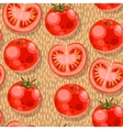 Seamless tomato vector image vector image