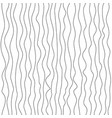 seamless wave lines pattern wavy wiggly black vector image vector image