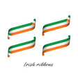 set of four modern colored irish ribbons vector image vector image