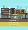 shop in city vector image vector image