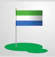 sierra leone flag pole vector image vector image