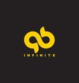 simple ab infinite symbol linear geometric design vector image vector image