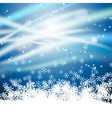 snow blue background vector image vector image