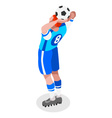 Soccer Throw 2016 Sports 3D Isometric vector image vector image