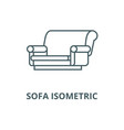 sofa isometric line icon linear concept vector image