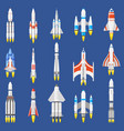 space rockets spacecraft ships shuttle vehicles vector image