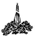 spacecraft launch vector image