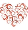 Spiral heart vector image