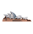 sydney opera house from a splash watercolor vector image