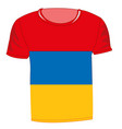 t-shirt with flag armenia vector image vector image