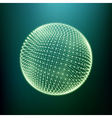 The Sphere Consisting of Points 3D Glowing Grid vector image vector image
