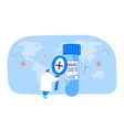 tiny nurse or doctor character with huge vector image