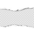 torn strip from the middle of a white sheet vector image vector image