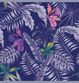 trendy blue style tropical vector image vector image