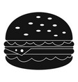 unhealthy burger icon simple style vector image