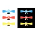 visual warning lights - special cars signal vector image vector image