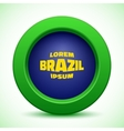 web button using Brazil flag colors vector image vector image