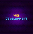 web development neon text vector image vector image
