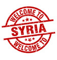 welcome to syria red stamp vector image vector image