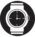 wristwatch icon vector image vector image
