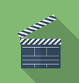 Icon of Movie Clapper Flat style vector image