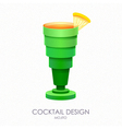 3D cocktail mojito design vector image