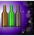 Three bottles of beer Refreshment vector image