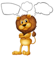 A lion with the blank callouts vector image vector image
