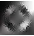 abstract black-and-white halftone circle vector image vector image