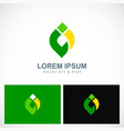 abstract shape colored eco logo vector image vector image