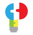 abstract teamwork icon vector image
