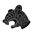 Animal head of viking s ship icon in black style vector image vector image