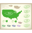 Bio Map USA United States of America vector image vector image