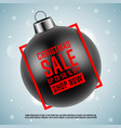 black christmas ball with red frame vector image vector image