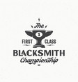 blacksmith championship abstract vintage vector image