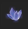 Blue crystal icon vector image vector image