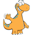 Cartoon Brontosaurus Waving vector image vector image