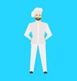cartoon restaurant staff chef on a blue vector image vector image