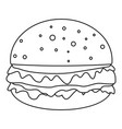 cheeseburger icon outline style vector image vector image