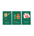 christmas and happy new year gift cards with vector image