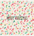 christmas seamless pattern with pastel confetti vector image