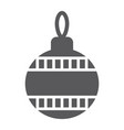 christmas tree ball glyph icon xmas decoration vector image